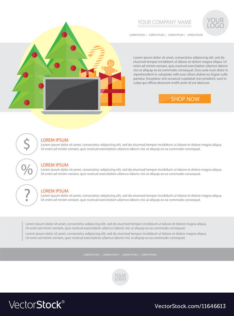 Happy New Year Holiday Greeting Email Template In With Regard To Holiday Card Email Template