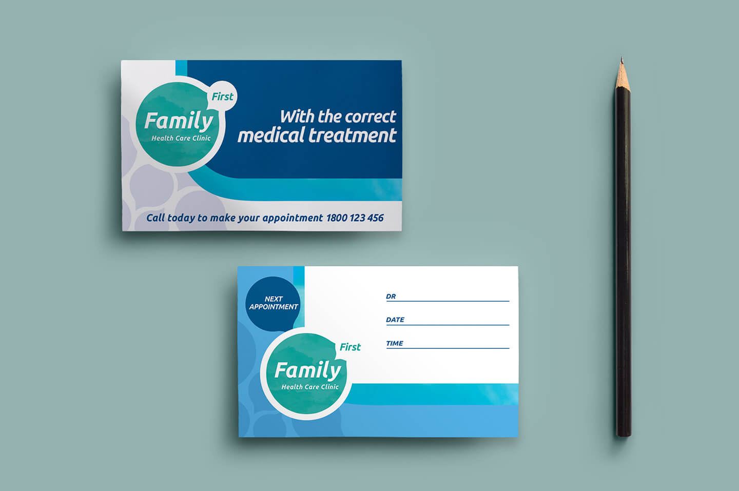 Healthcare Clinic Appointment Card Template In Psd, Ai Throughout Dentist Appointment Card Template