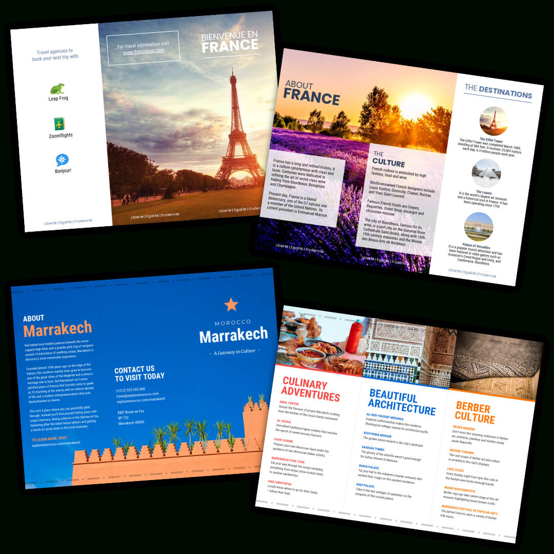 Holiday Brochure Templates – Dalep.midnightpig.co Intended For Island Brochure Template