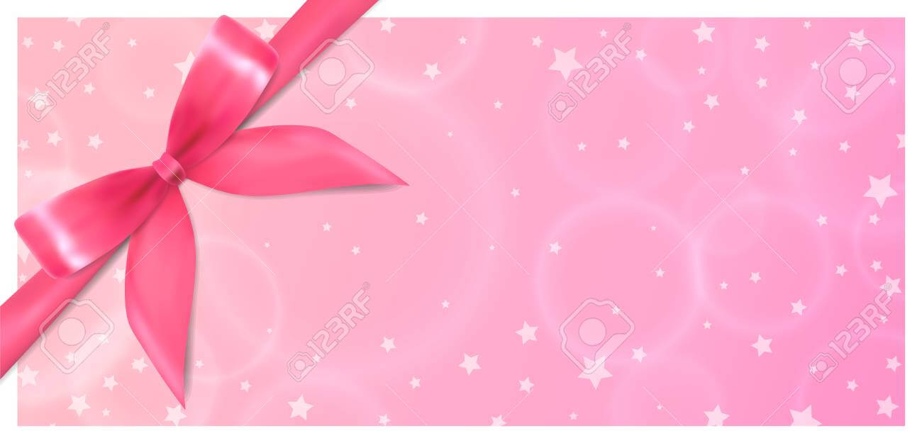 Holiday Gift Certificate, Gift Voucher, Coupon Template. Pink.. With Regard To Pink Gift Certificate Template