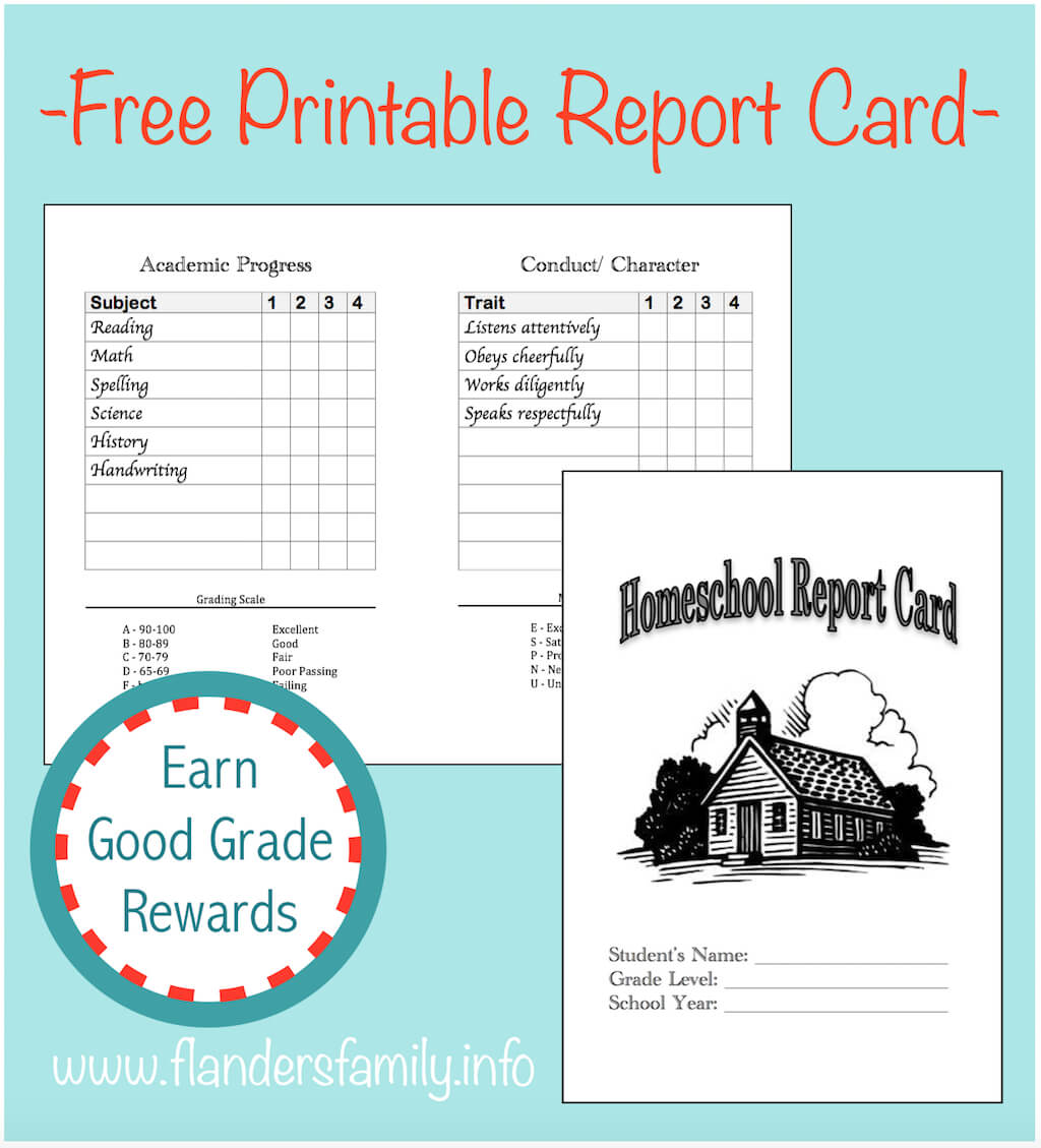 Homeschool Report Cards - Flanders Family Homelife In Character Report Card Template