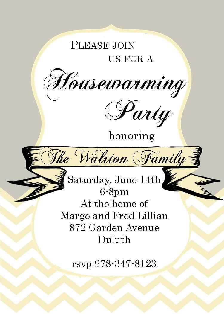 Housewarming Invitation Template Free Download – Calep Regarding Free Housewarming Invitation Card Template