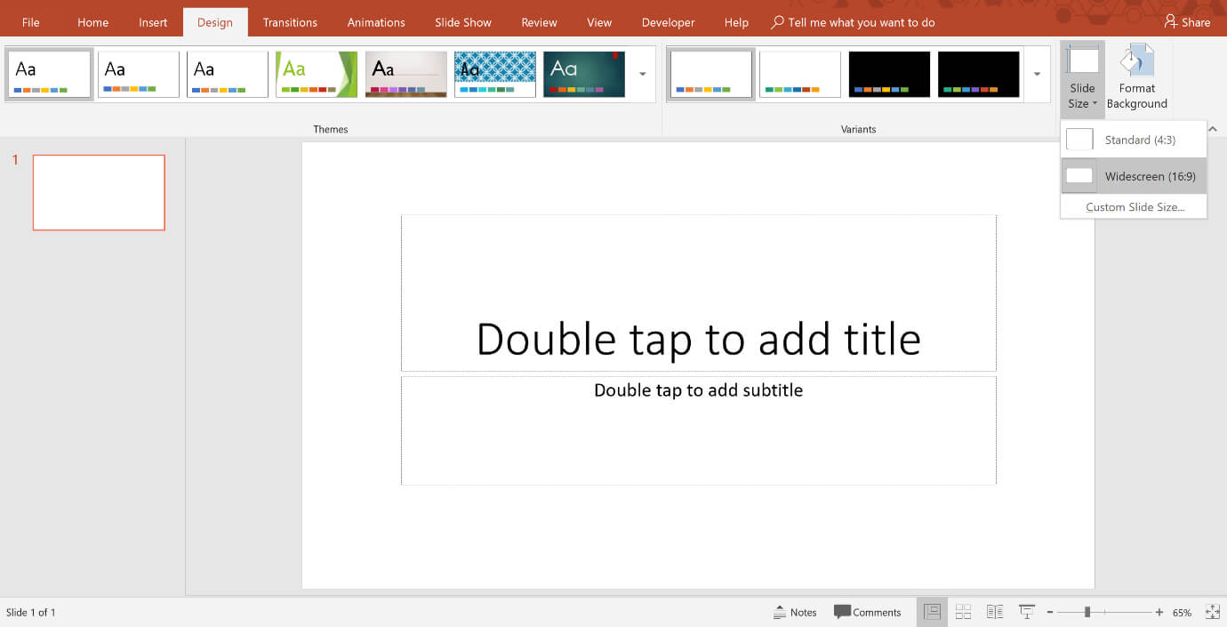 How To Change The Size And Dimensions Of Your Powerpoint Slides Inside Powerpoint Presentation Template Size