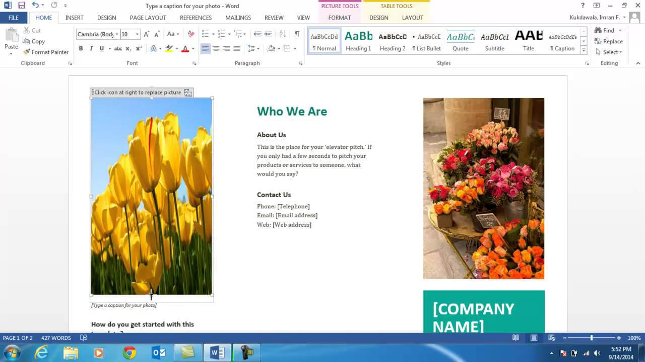 How To Create A Brochure Using Ms Word 2013 For Word 2013 Brochure Template