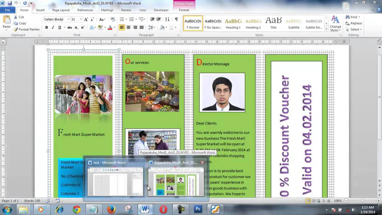 How To Create A Brochure Using Ms Word 2013 Youtube Make On Intended For Office Word Brochure Template