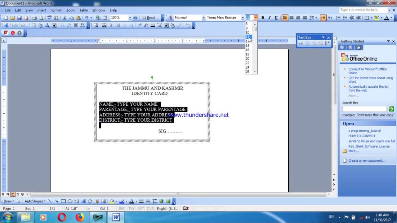 How To Create A Identity Card In Ms Word For Id Card Template For Microsoft Word