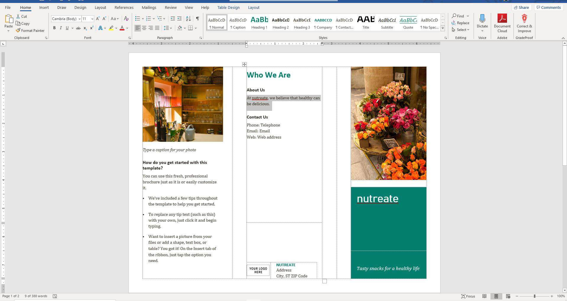 How To Create A Trifold Brochure In Word 2010 – Calep With Free Brochure Templates For Word 2010