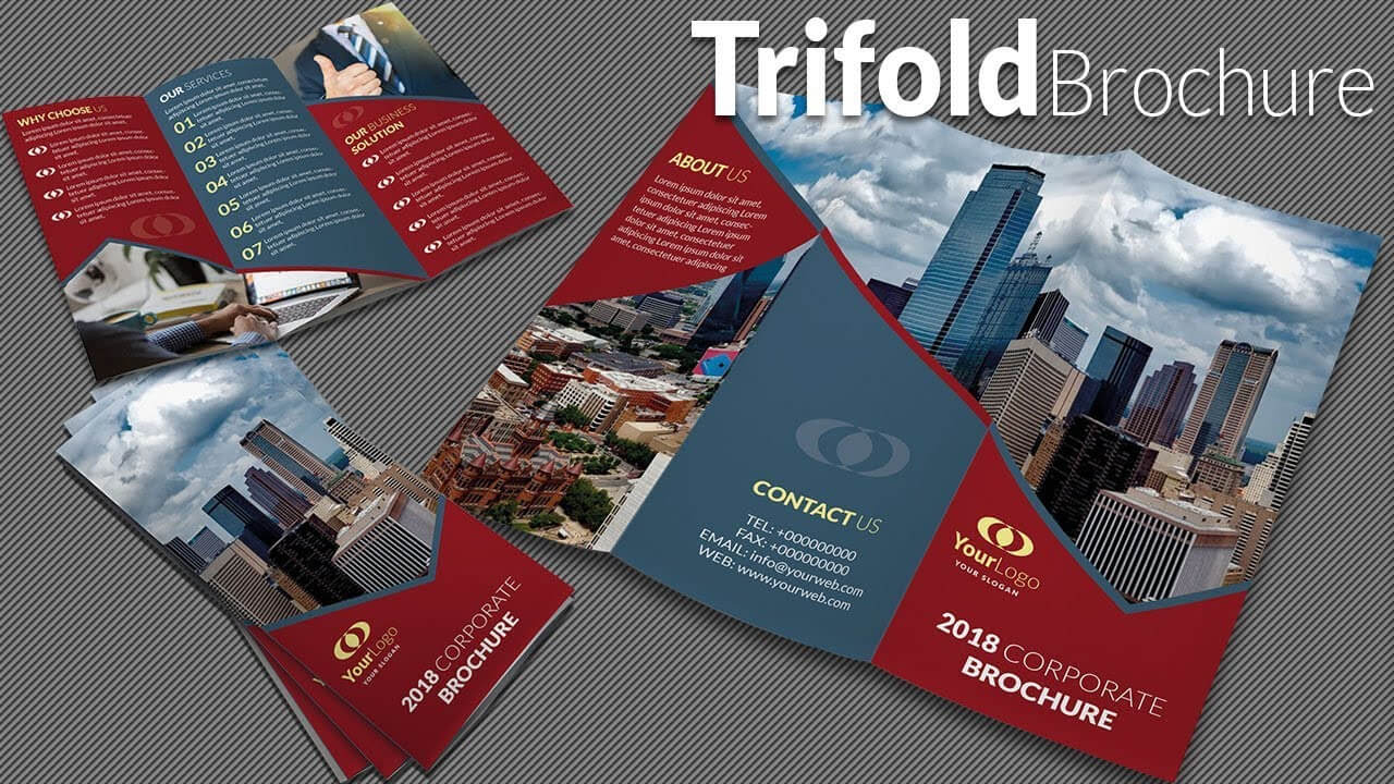 How To Design A Trifold Brochure In Adobe Illustrator Cc 2020 With Adobe Illustrator Tri Fold Brochure Template