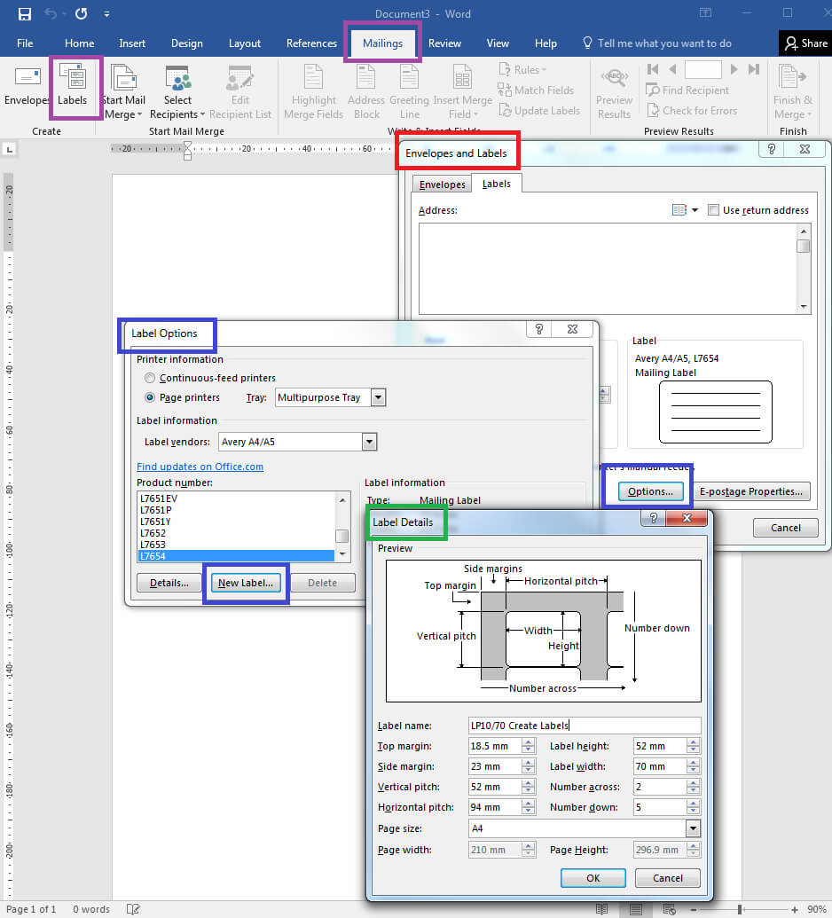 How To – How To Create Your Own Label Templates In Word Intended For Trading Card Template Word