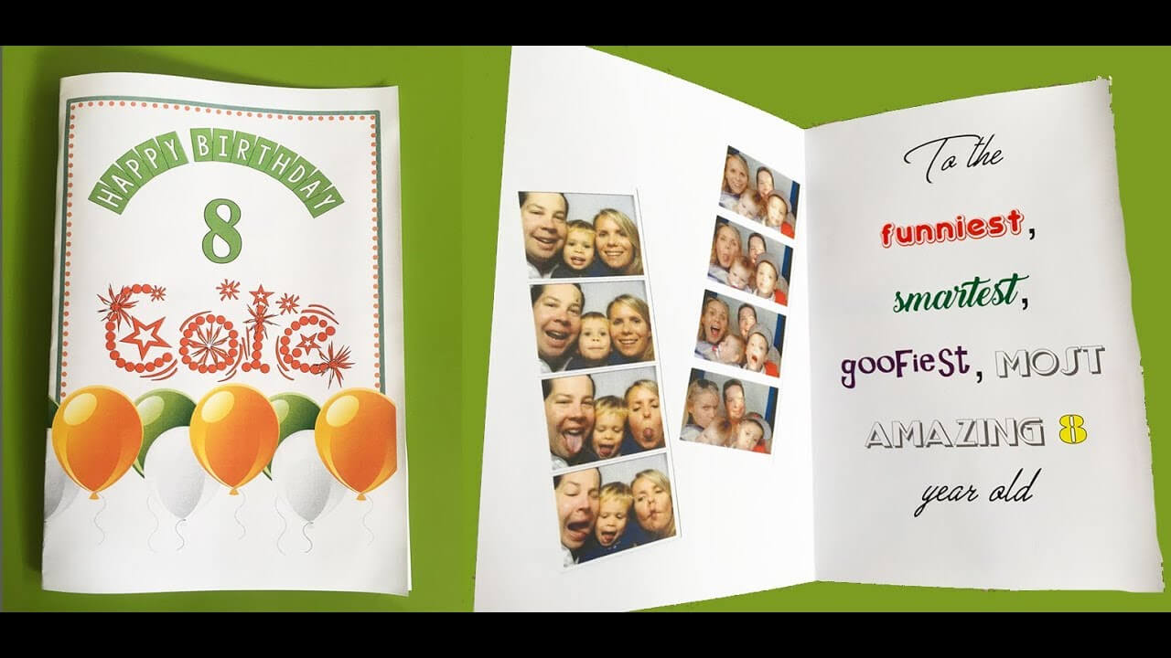 How To Make A Foldable Birthday Card With Ms Word Regarding Half Fold Greeting Card Template Word