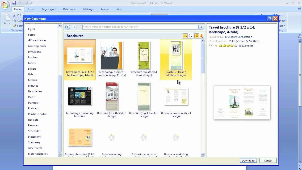 How To Make A Trifold Brochure In Word 2007 - Carlynstudio For Brochure Templates For Word 2007