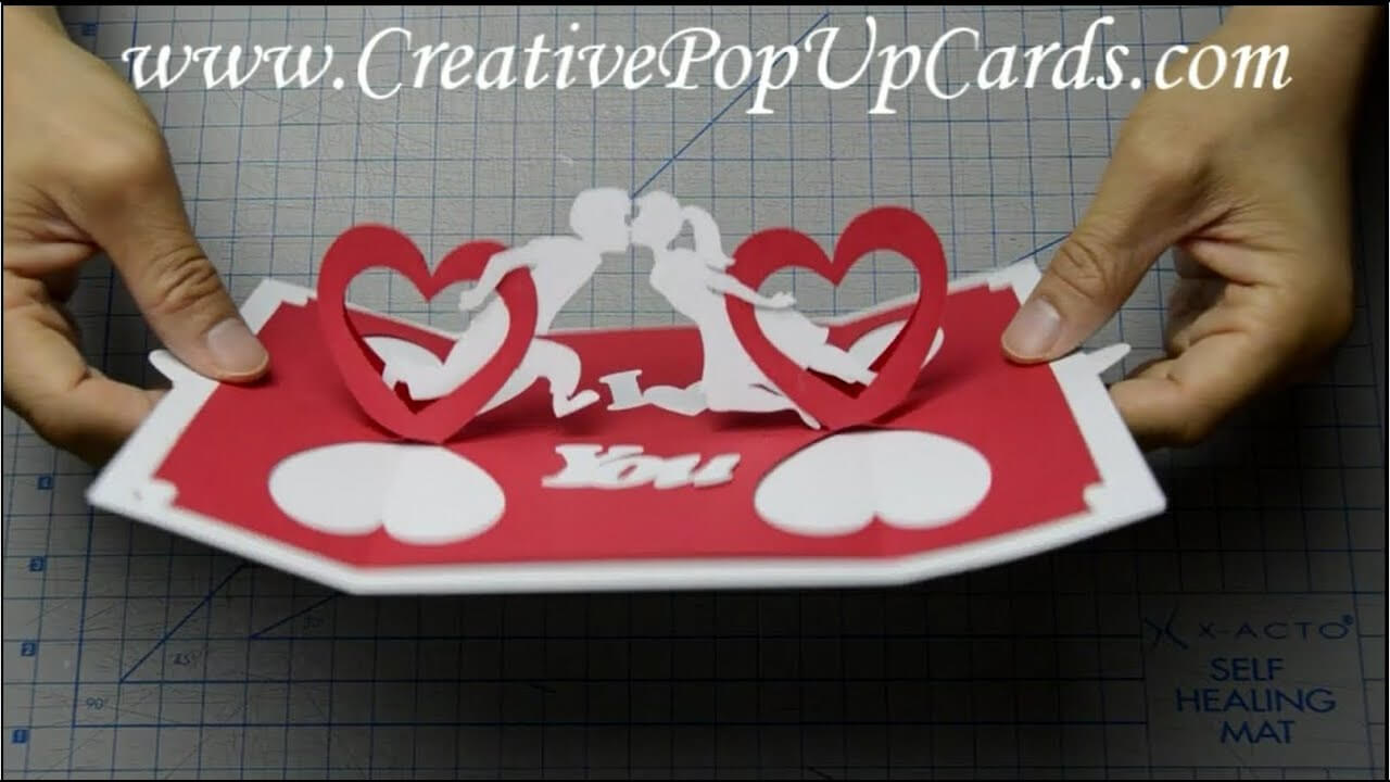How To Make A Valentines Day Pop Up Card: Twisting Hearts Intended For Twisting Hearts Pop Up Card Template