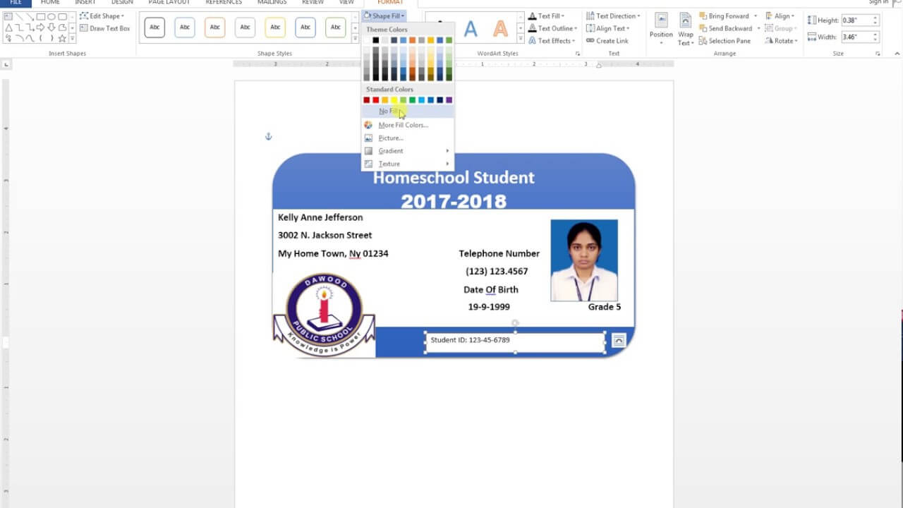How To Make Id Cards On Microsoft Word - Calep.midnightpig.co Pertaining To Id Card Template For Microsoft Word