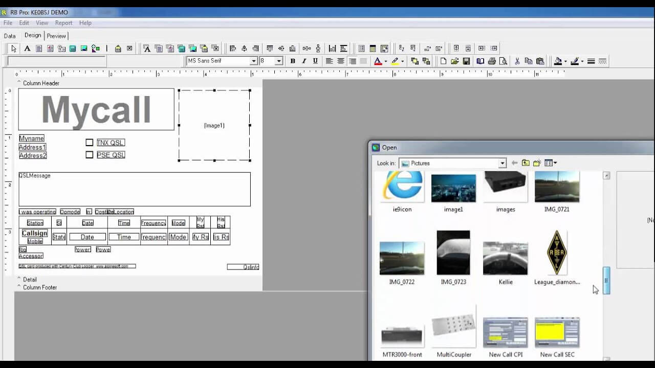 How To Use The Built In Qsl Card Printing Feature With Qsl Card Template