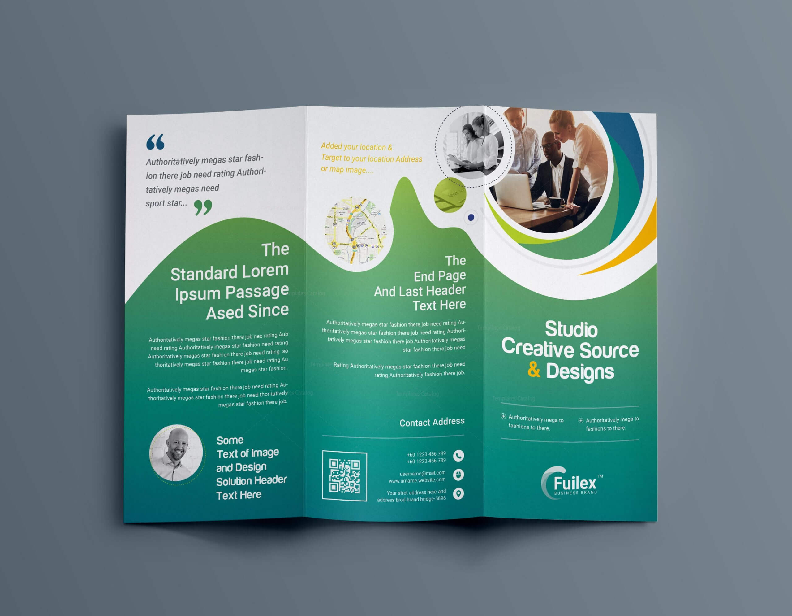 Hypnosis Professional Tri Fold Brochure Template 001203 For Brochure Psd Template 3 Fold