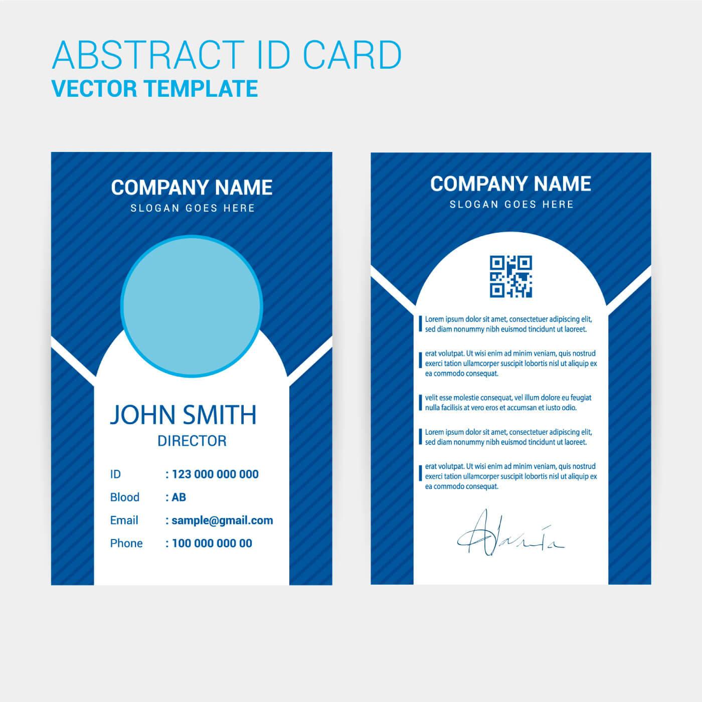 Id Card Design Template - Download Free Vectors, Clipart Regarding Spy Id Card Template