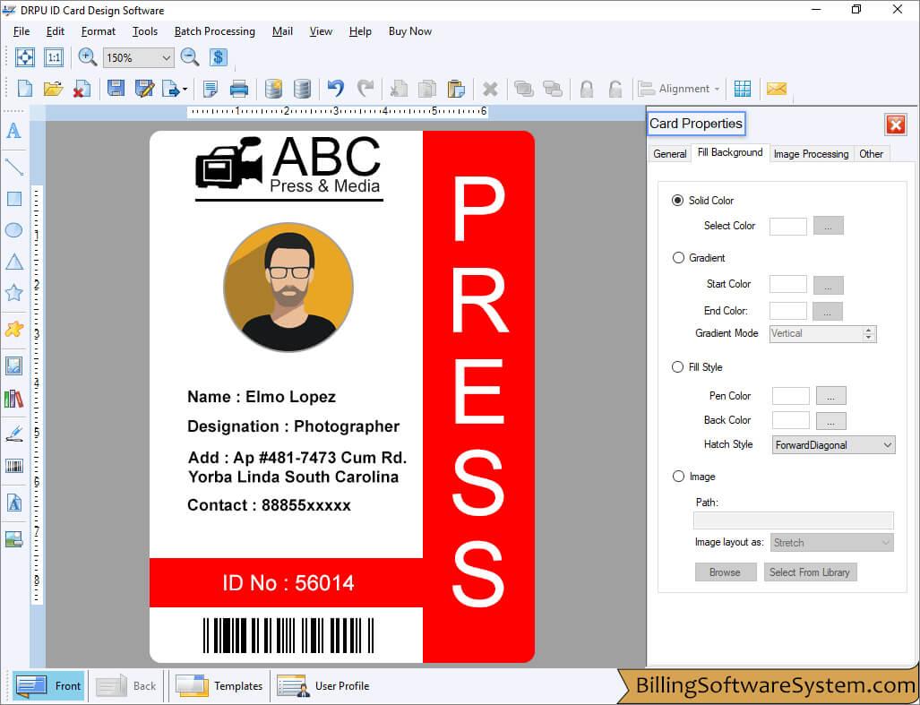id maker software customized employee student identity