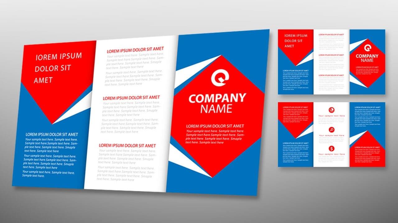 Illustrator Tutorial - Tri Fold Brochure Design Template Regarding Tri Fold Brochure Ai Template