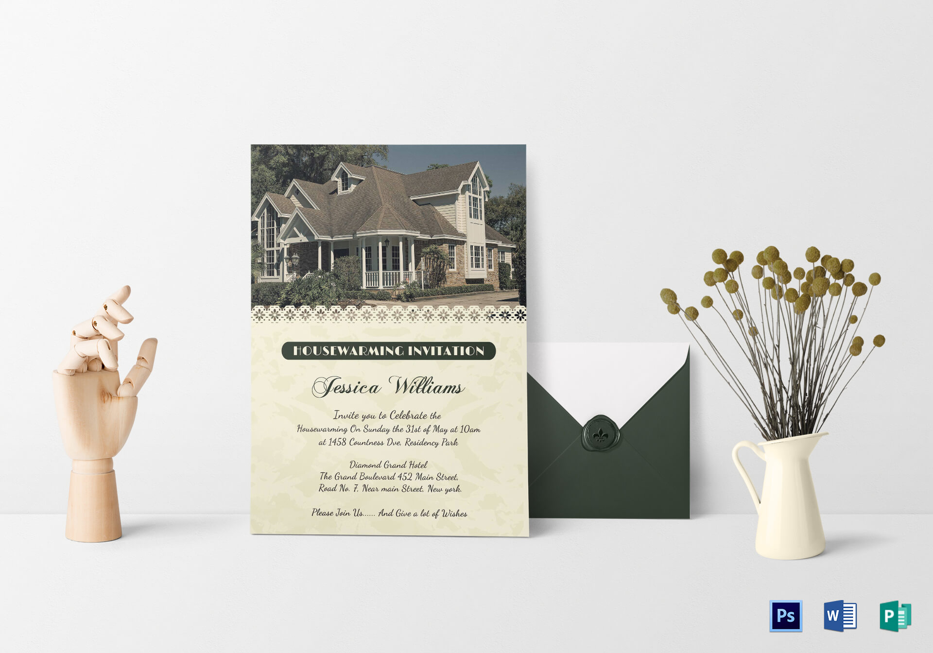 Images Of Housewarming Invitation - Calep.midnightpig.co Regarding Free Housewarming Invitation Card Template