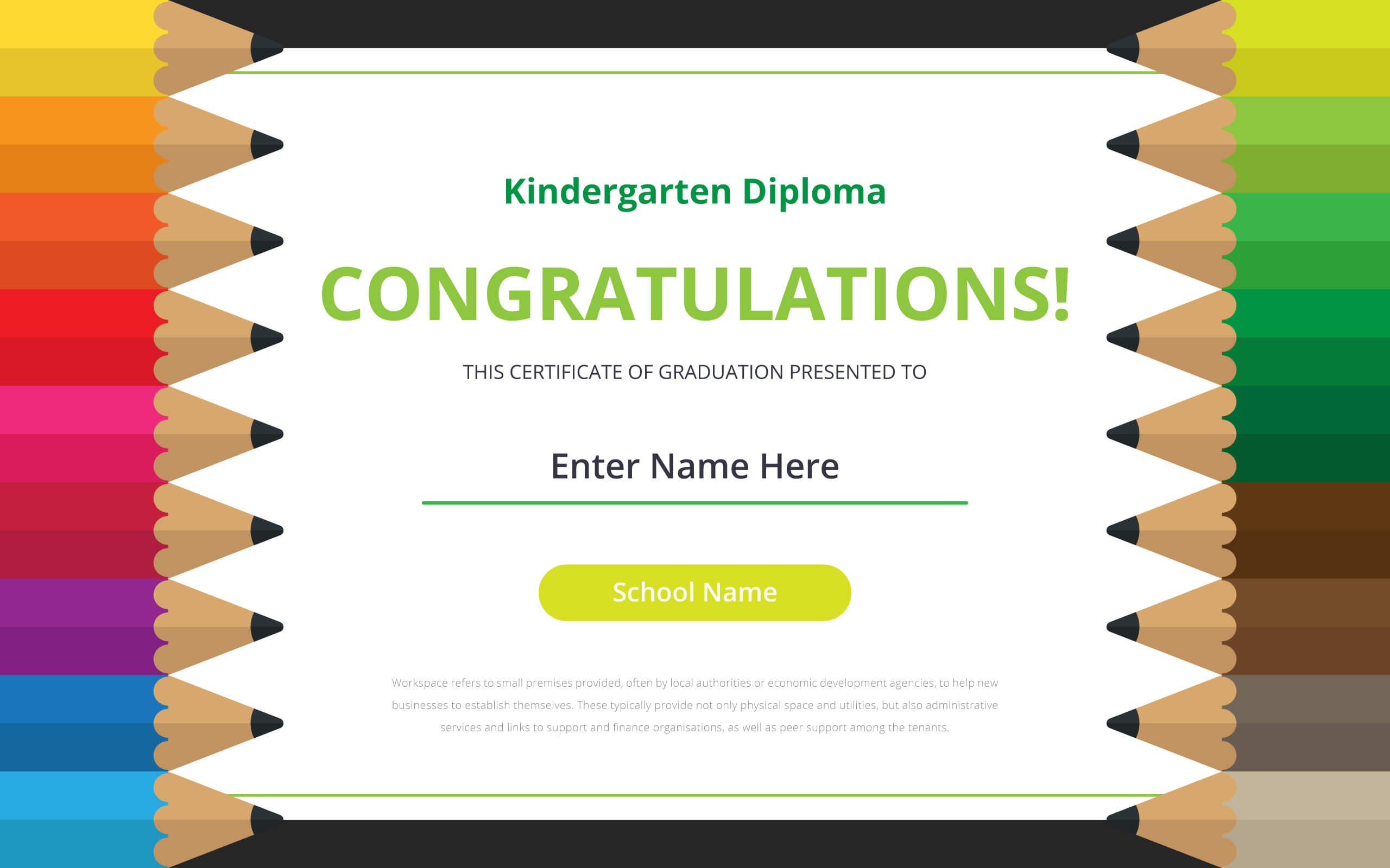 Kindergarten Diploma Certificate Template – Download Free Throughout Small Certificate Template