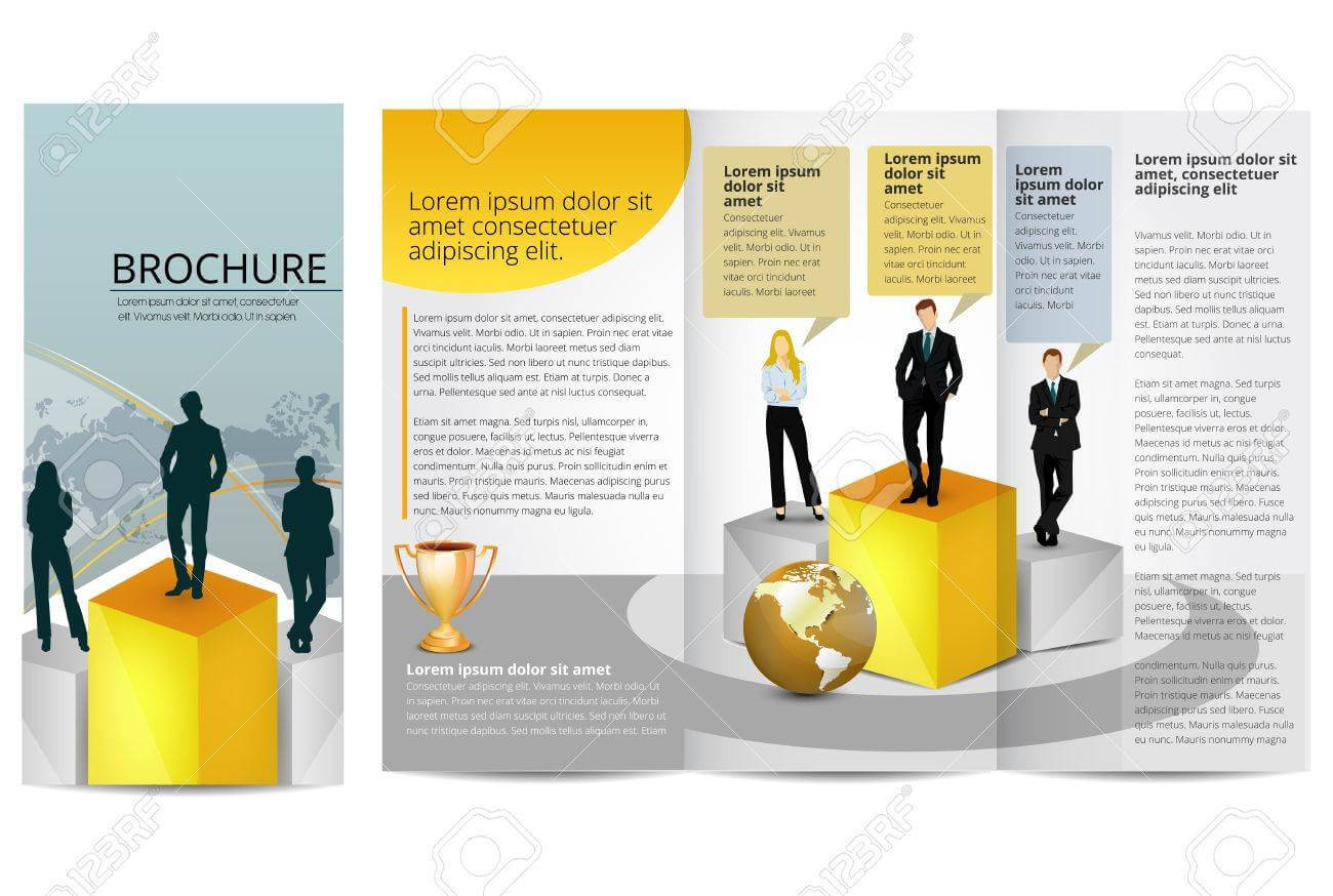 Leadership Training Progress Brochure Template Within Training Brochure Template