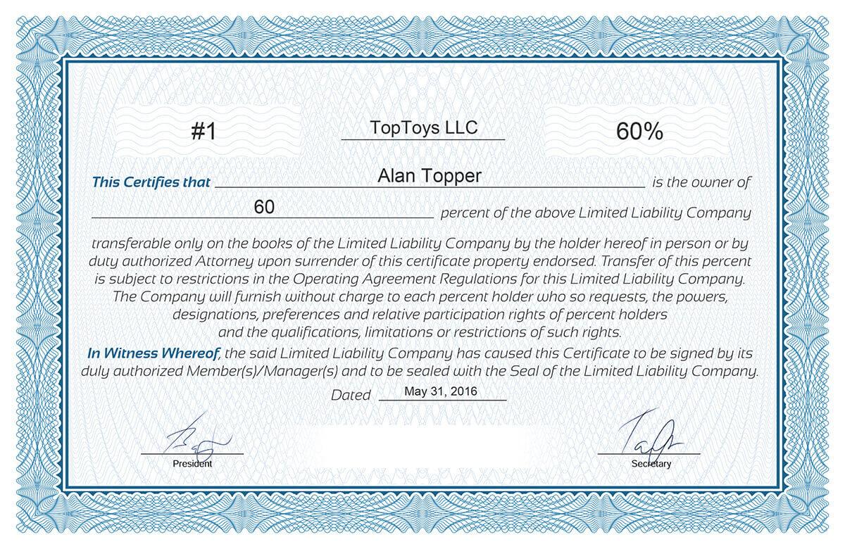 Llc Membership Certificates Templates – Dalep.midnightpig.co Throughout Llc Membership Certificate Template Word