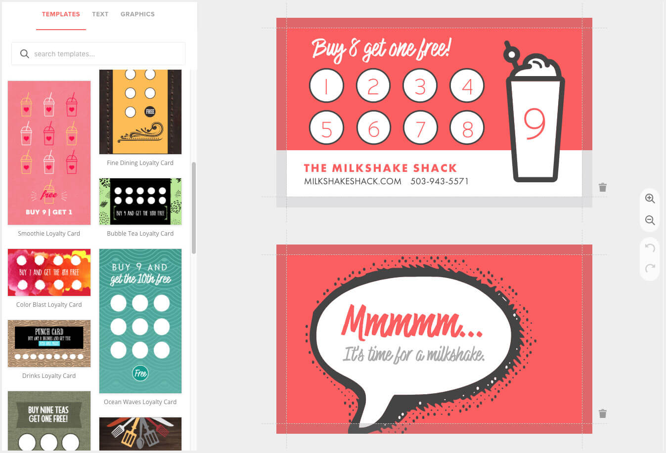 Loyalty Card Maker, Custom Punch Cards - Musthavemenus With Regard To Customer Loyalty Card Template Free