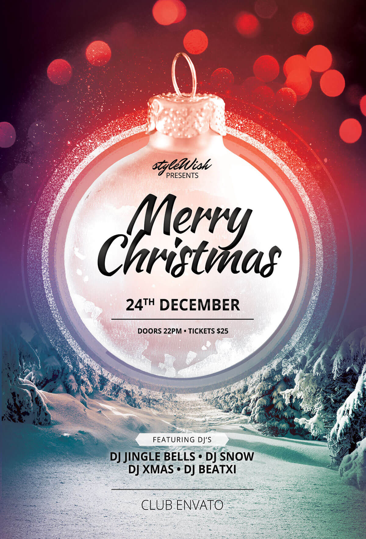 Merry Christmas Flyer – Calep.midnightpig.co Intended For Christmas Brochure Templates Free