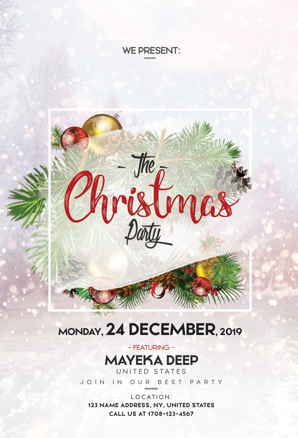 Merry Christmas Free Psd Flyer Template | Freebiedesign Inside Christmas Brochure Templates Free