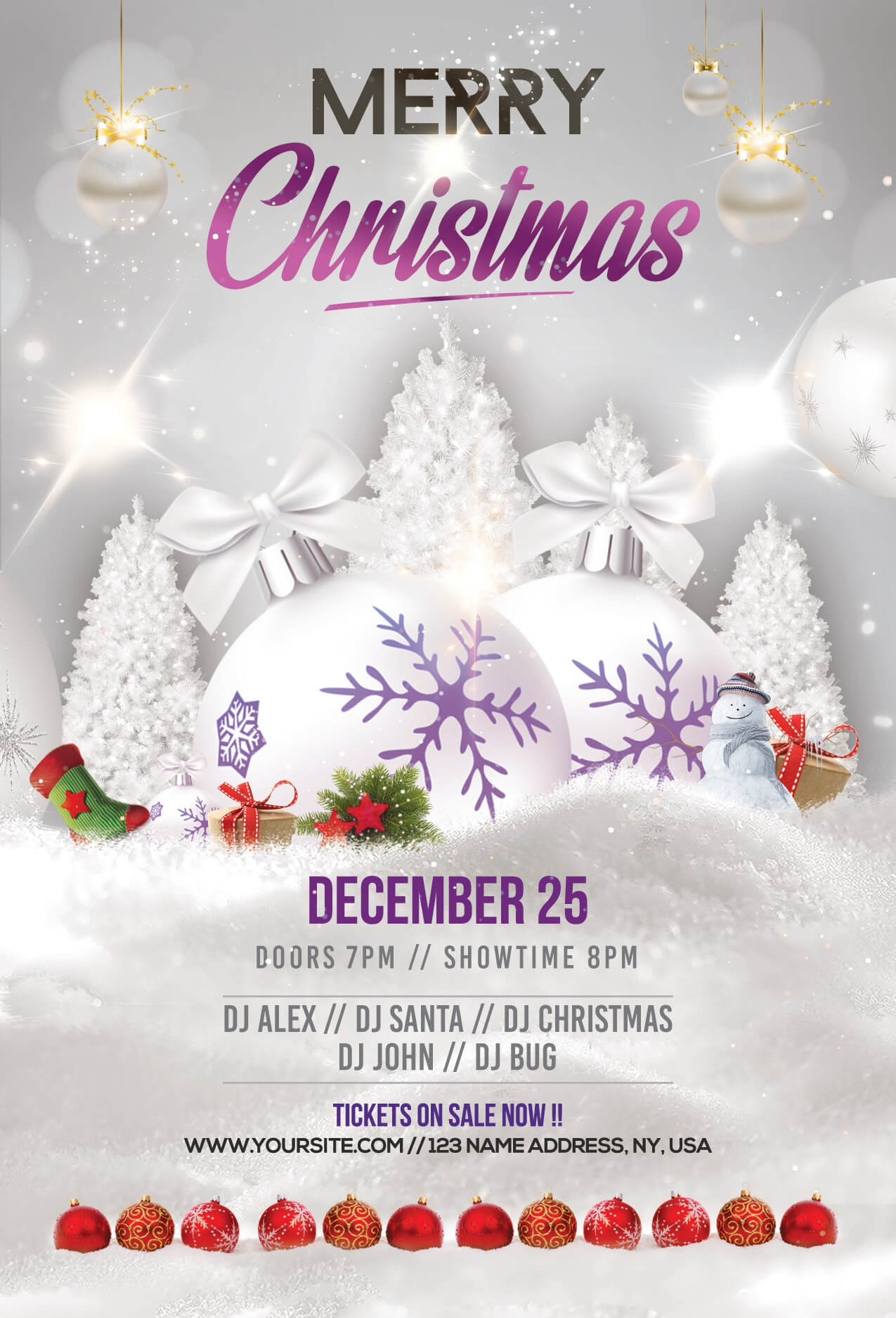 Merry Christmas & Holiday Free Psd Flyer Template - Stockpsd Inside Christmas Brochure Templates Free