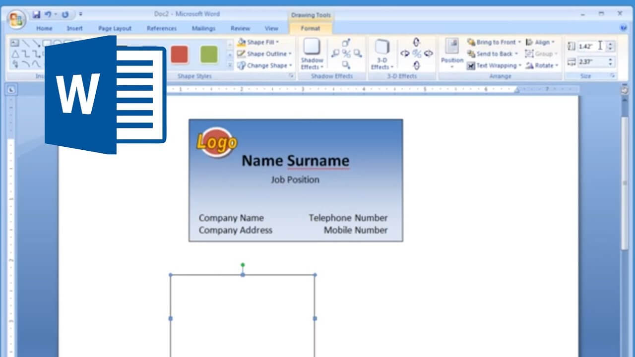 Microsoft Word - How To Make And Print Business Card 2/2 Inside Word 2013 Business Card Template