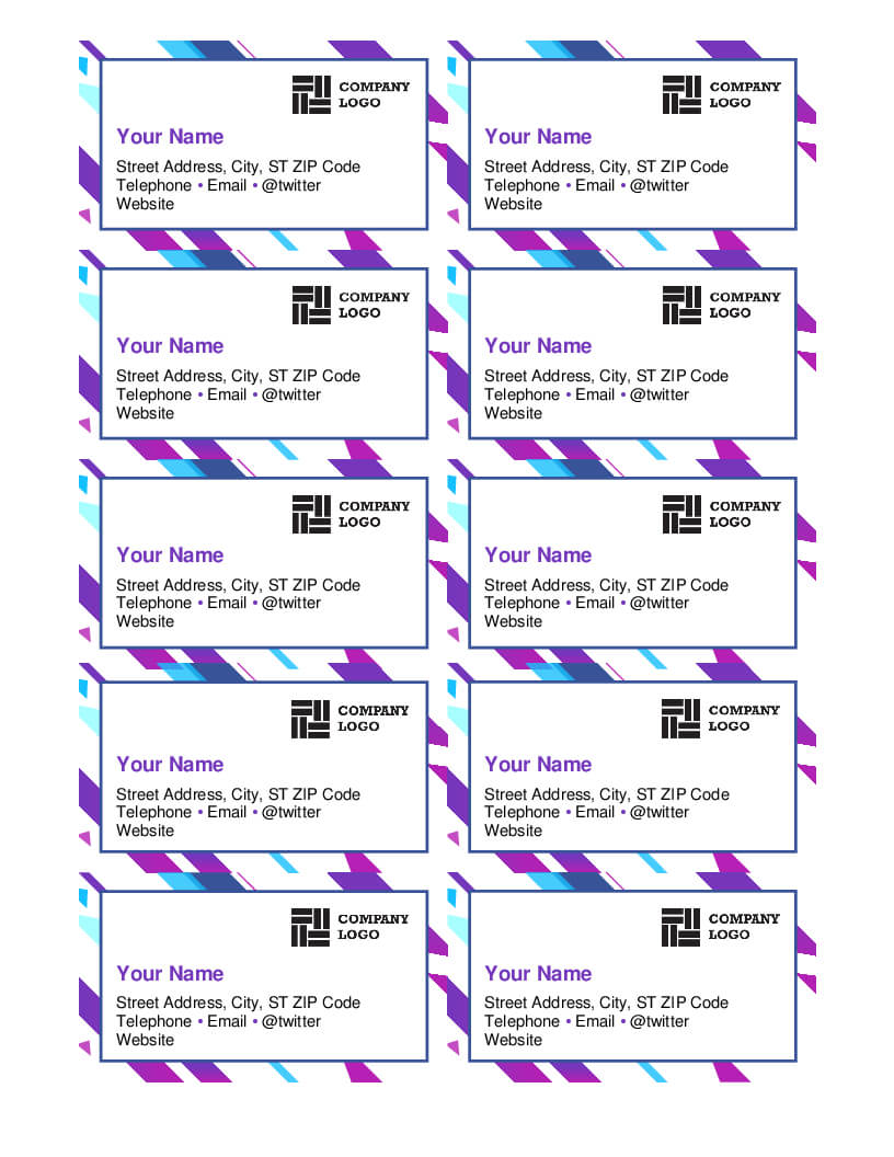 Microsoft Word Template For Business Cards - Calep Pertaining To Business Cards Templates Microsoft Word
