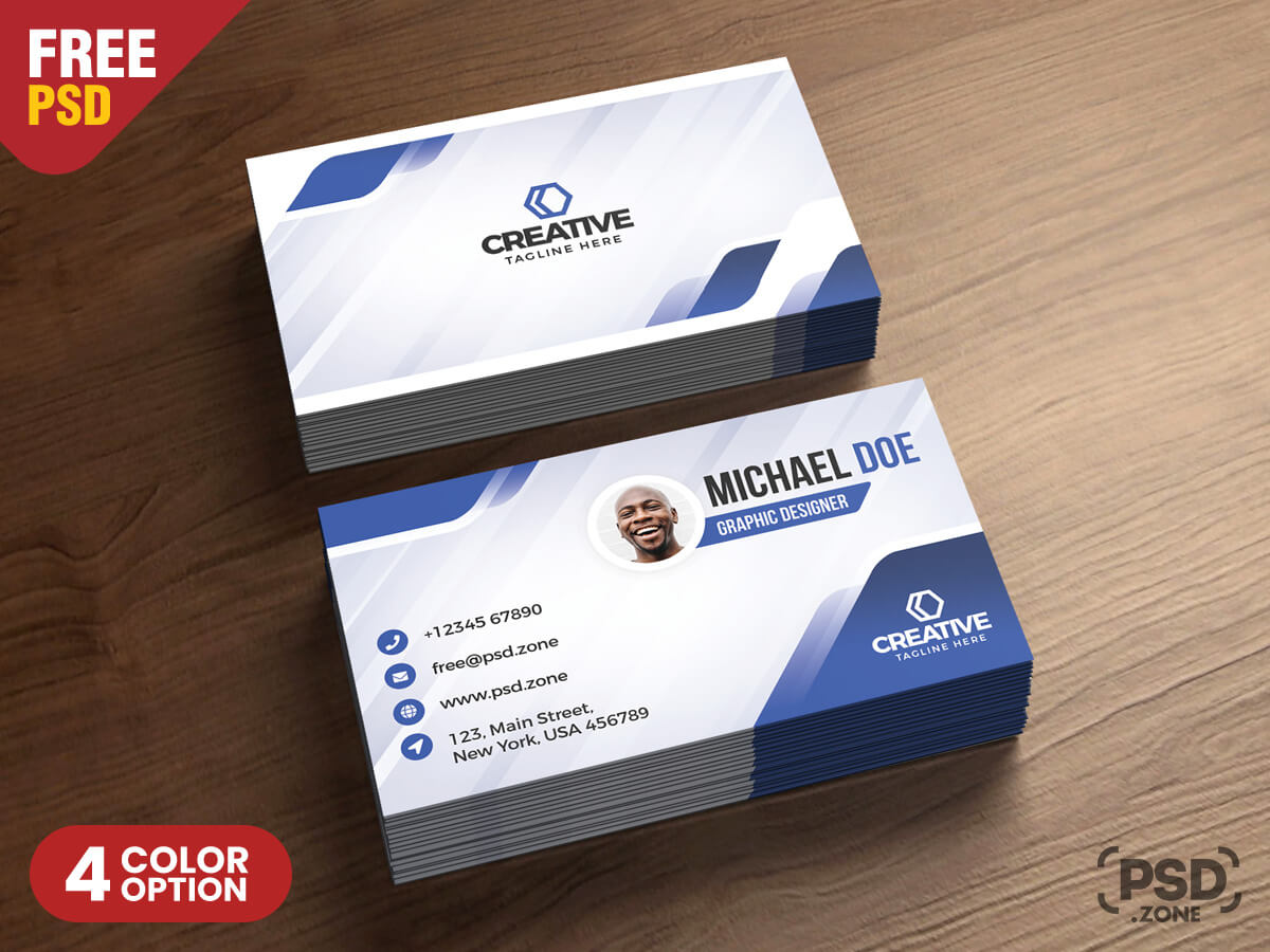 Modern Business Cards Design Psd – Psd Zone Intended For Name Card Design Template Psd