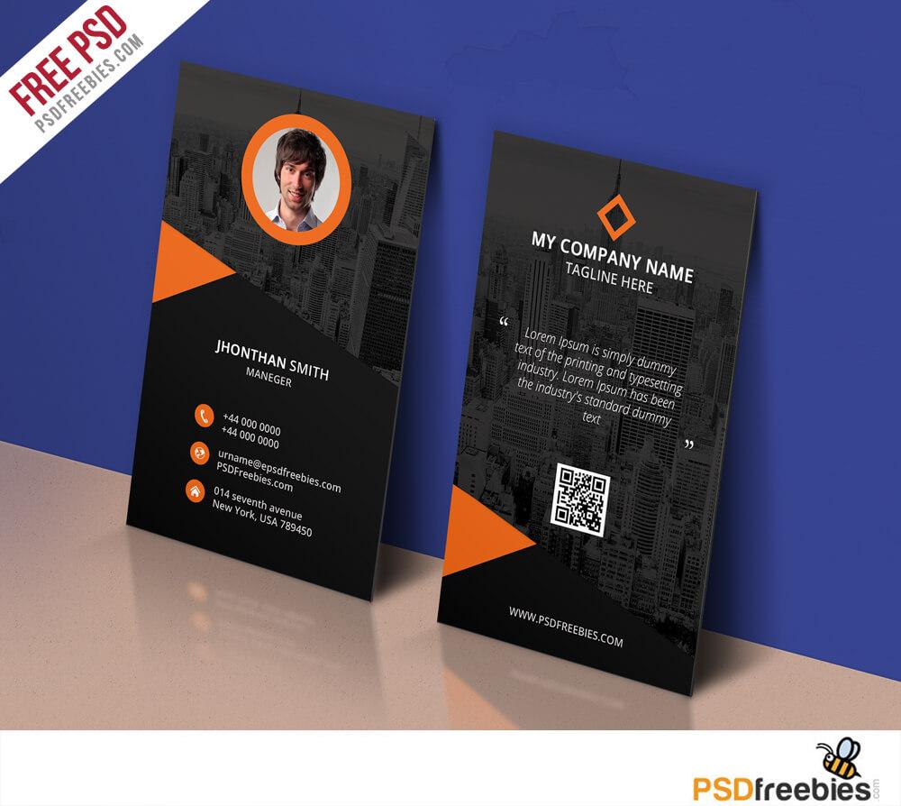 Modern Corporate Business Card Template Free Psd Regarding Name Card Design Template Psd