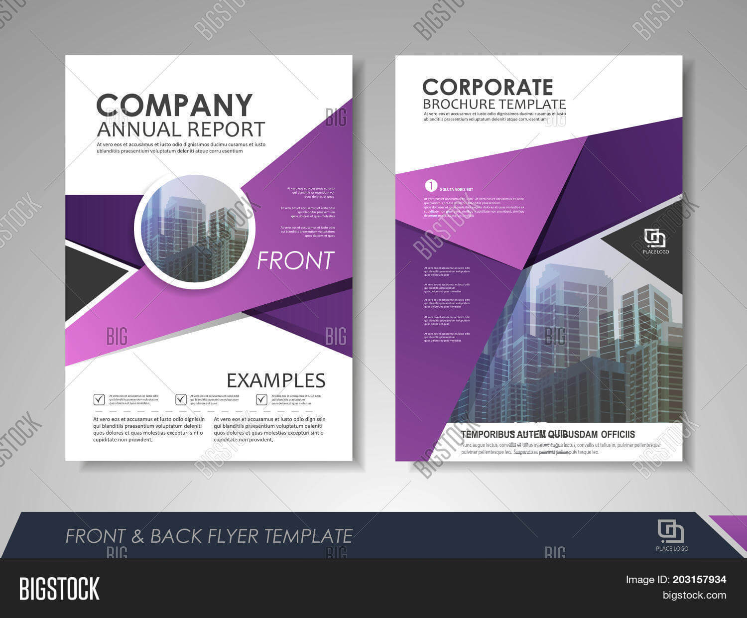 Modern Purple Vector & Photo (Free Trial) | Bigstock Within Online Brochure Template Free