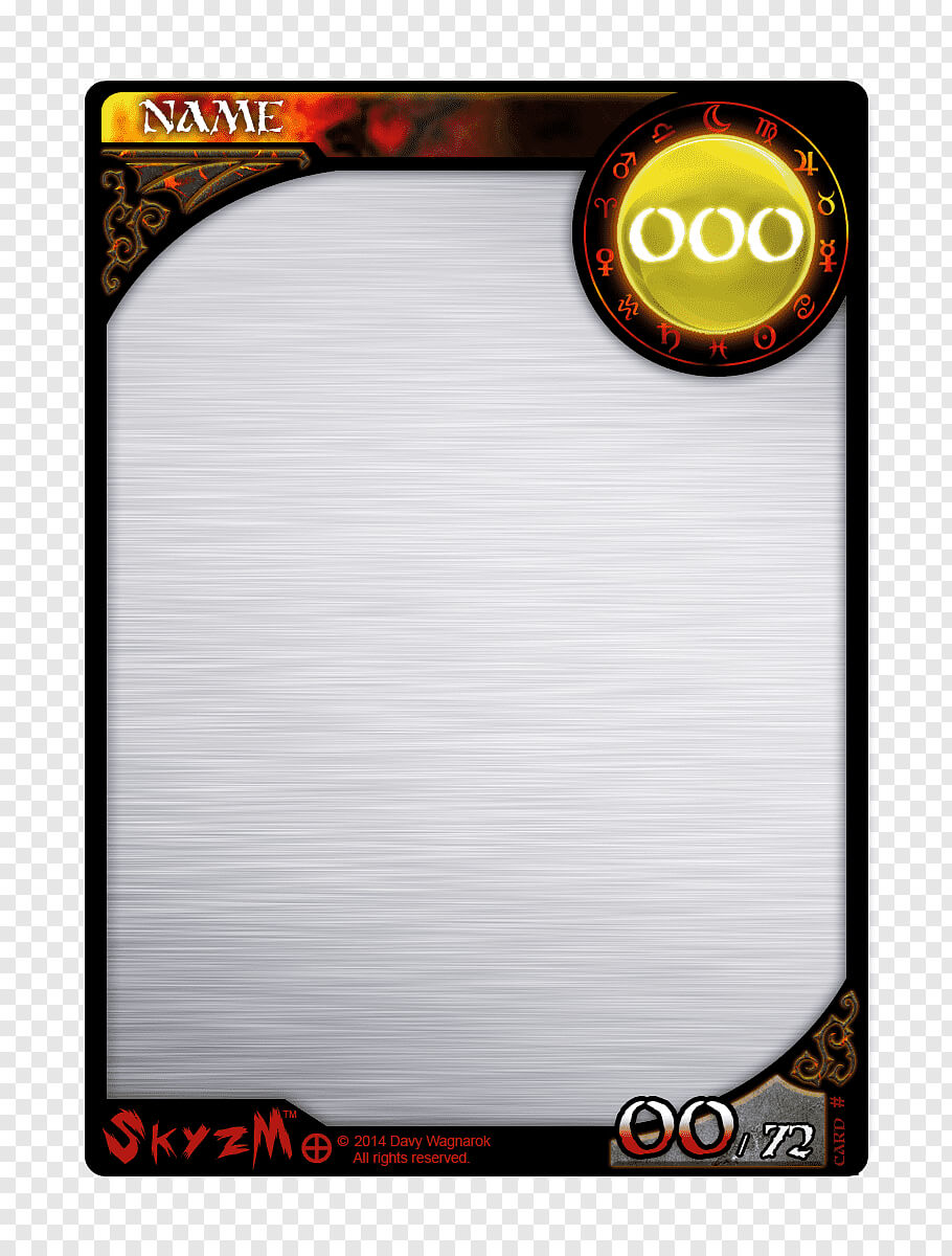 Multicolored Game Card Template, Template Collectable Pertaining To Trading Card Template Word