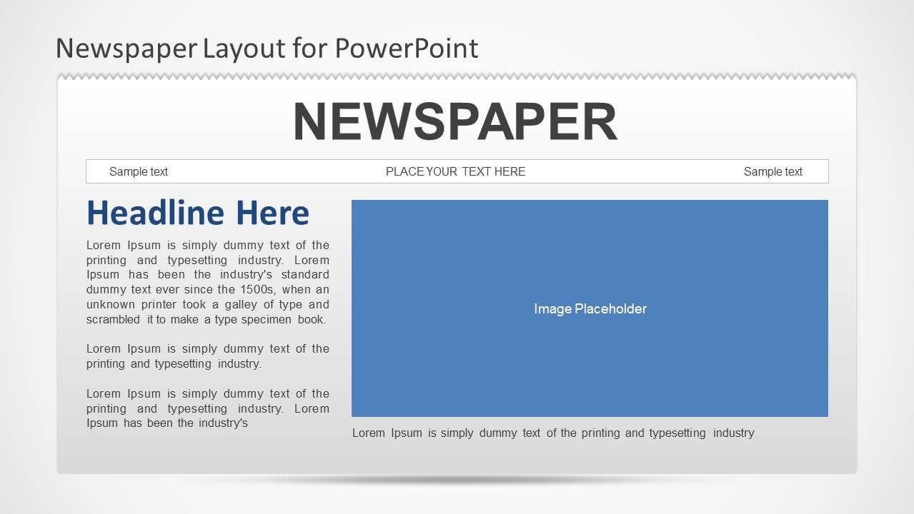 Newspaper Powerpoint Template Throughout Newspaper Template For Powerpoint