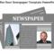 Newspaper Template Powerpoint  Slideegg In Newspaper Template For Powerpoint