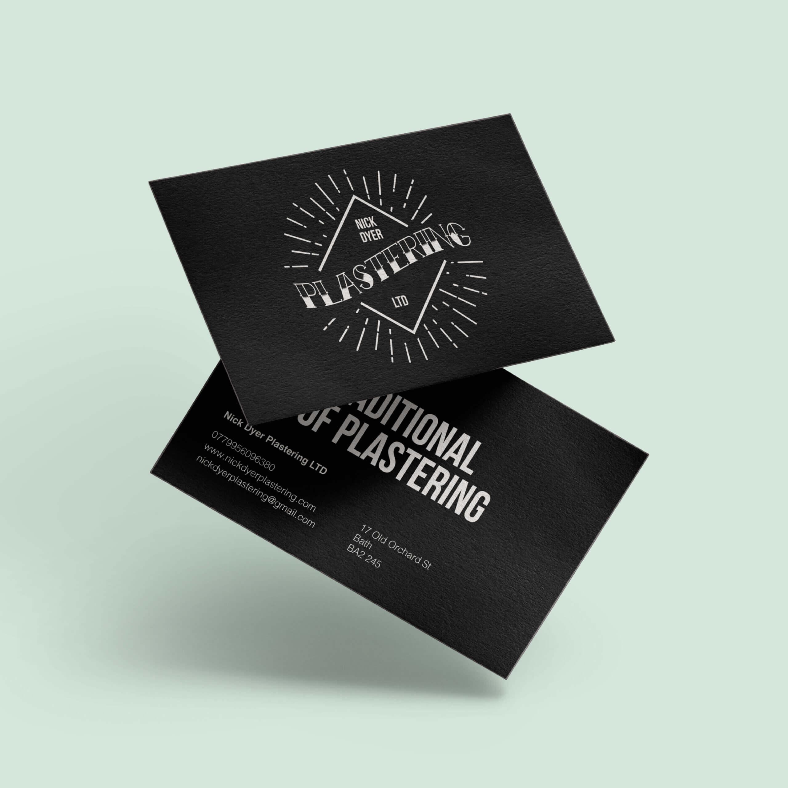 Nick Dyer Plastering | Createdjasmine Within Plastering Business Cards Templates