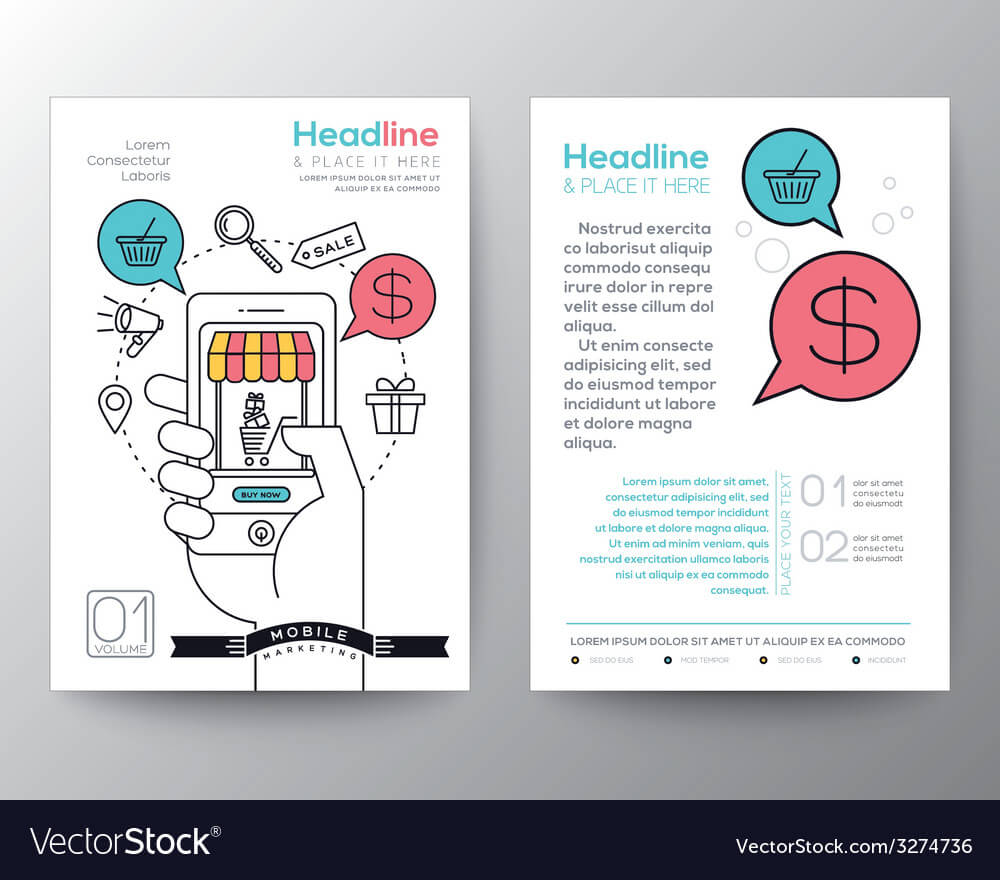 Online Shopping Brochure Flyer Layout Template For Online Brochure Template Free