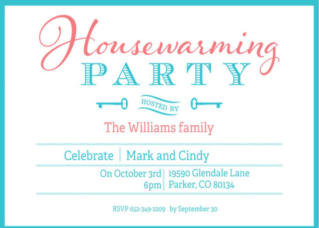 Open House Housewarming Party Invitation Wording – Calep Regarding Free Housewarming Invitation Card Template