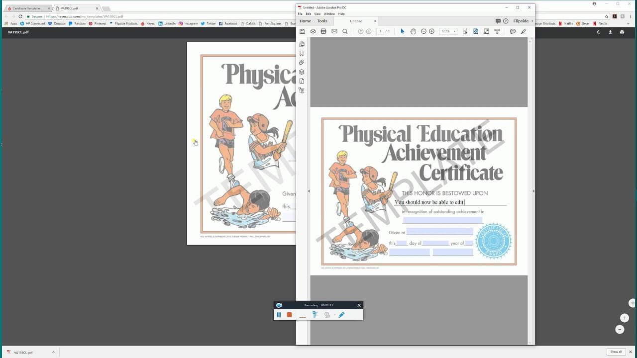 Open In Acrobat – Hayes Publishing Certificate Templates In Hayes Certificate Templates