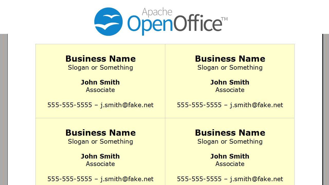 Open Office Business Card Templates – Dalep.midnightpig.co Pertaining To Open Office Index Card Template