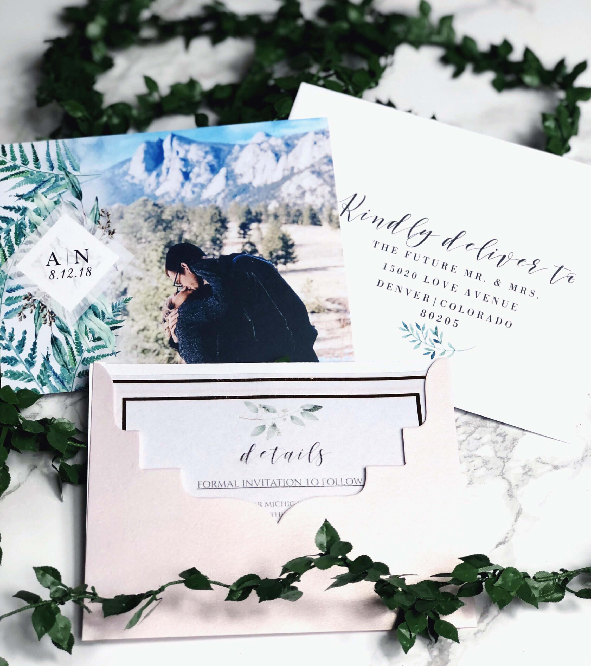 Our Save The Dates! Photo From Vistaprint, Envelope Within Michaels Place Card Template