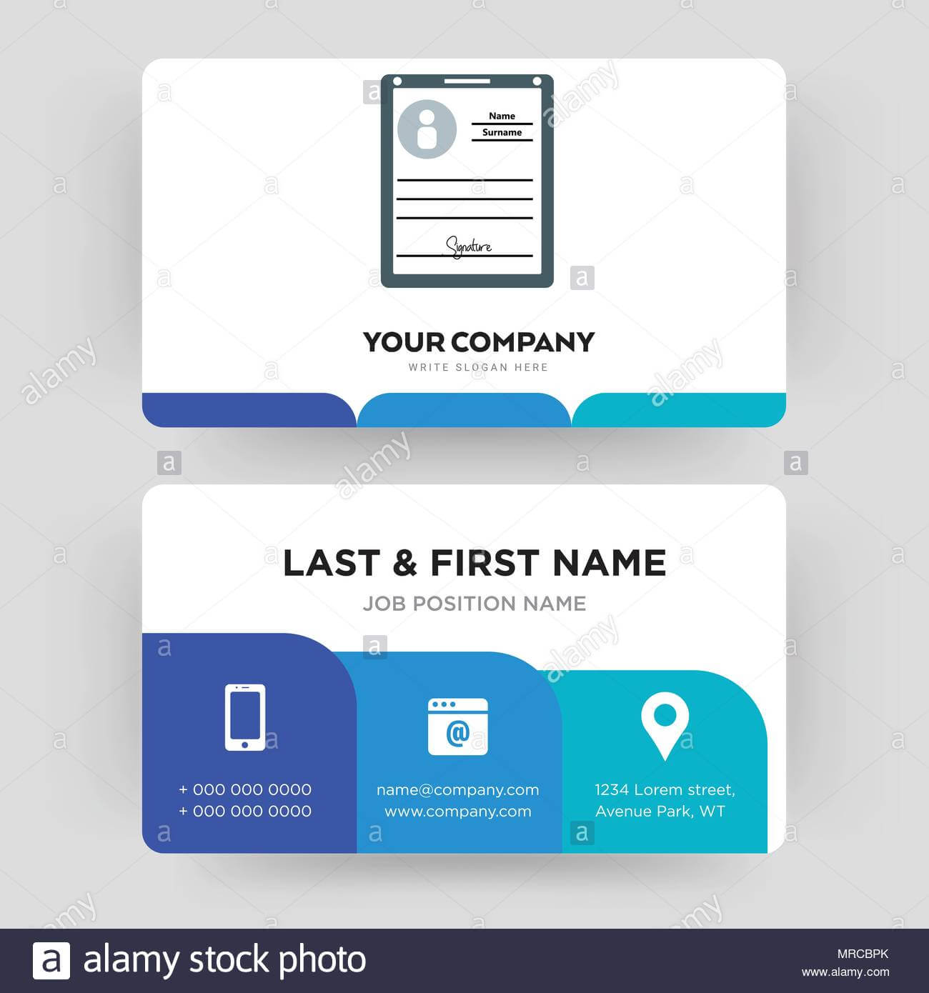 Personal Details, Business Card Design Template, Visiting With Regard To Personal Identification Card Template