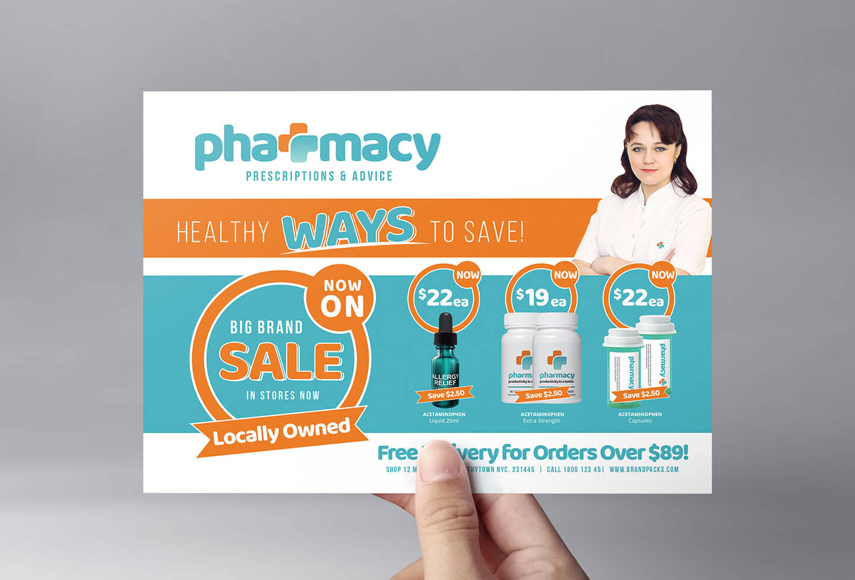 Pharmacy Flyer Template - Psd, Ai & Vector - Brandpacks In Pharmacy Brochure Template Free
