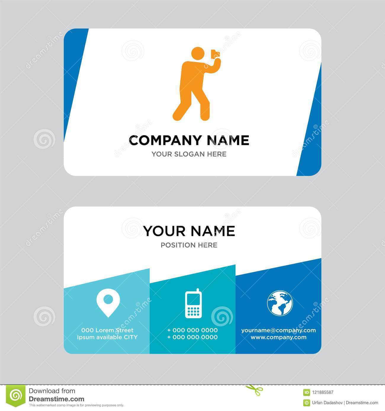Photography Business Card Design Template, Visiting For Your Inside Photographer Id Card Template