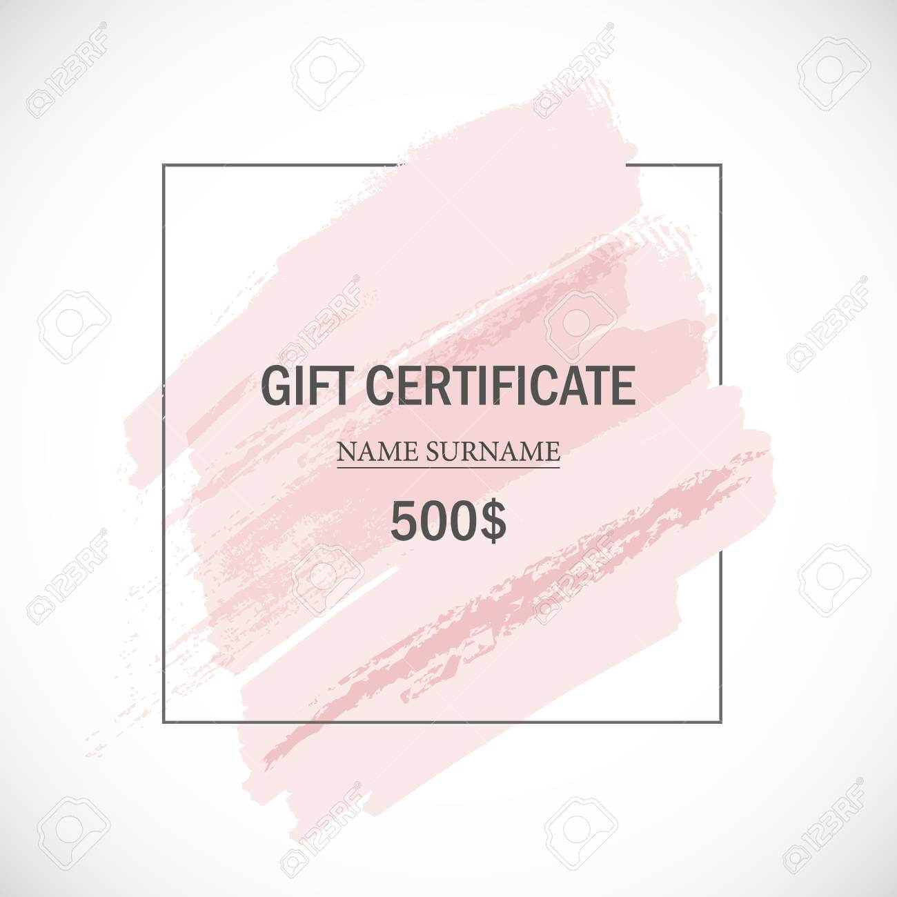Pink Gift Certificate Template. In Pink Gift Certificate Template
