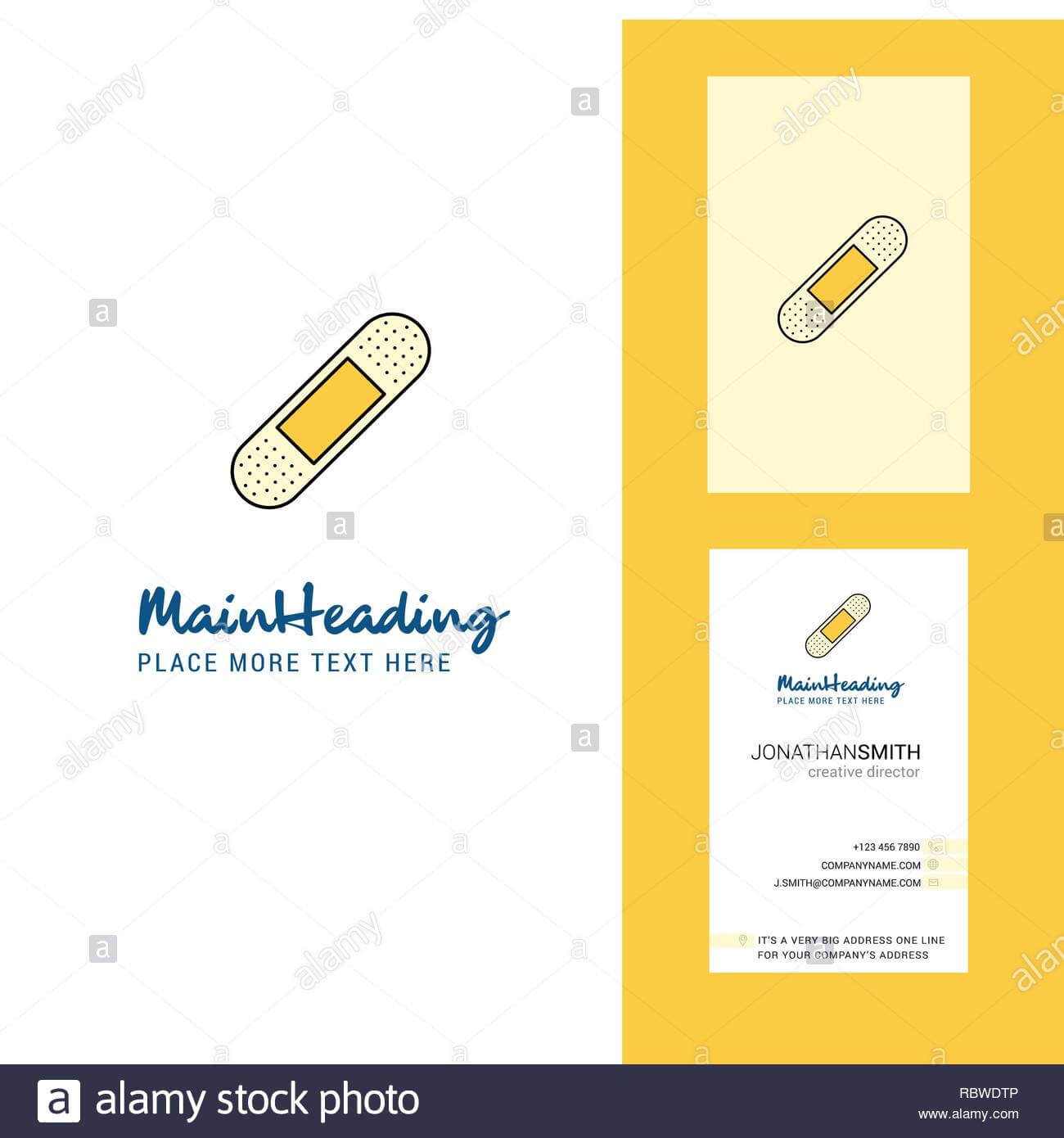 Plaster Creative Logo And Business Card. Vertical Design Throughout Plastering Business Cards Templates