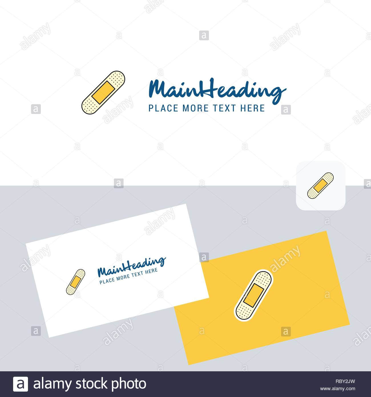 Plaster Vector Logotype With Business Card Template. Elegant Regarding Plastering Business Cards Templates
